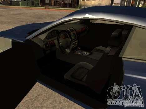Jaguar XK for GTA San Andreas back left view