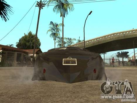 Thunderbold SlapJack for GTA San Andreas bottom view