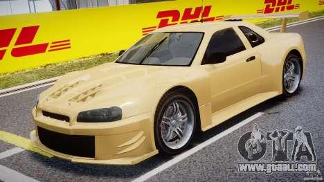 Nissan Skyline R34 v1.0 for GTA 4