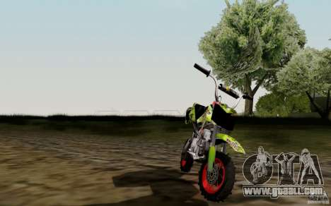 Kawasaki 50cc Pocket Factory Bike for GTA San Andreas right view