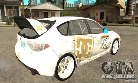 Subaru Impreza WRX STi DC Shoes of DIRT 2 for GTA San Andreas right view