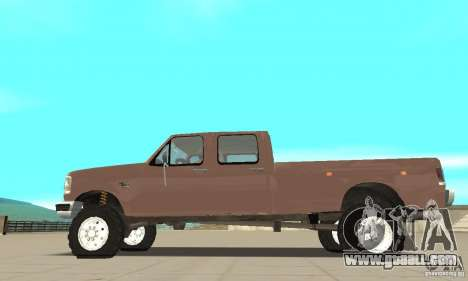 Ford F-350 1992 for GTA San Andreas left view
