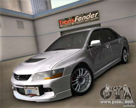 Mitsubishi Lancer Evolution IX Tunable for GTA San Andreas inner view