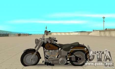 Harley Davidson FLSTF (Fat Boy) v2.0 Skin 3 for GTA San Andreas left view
