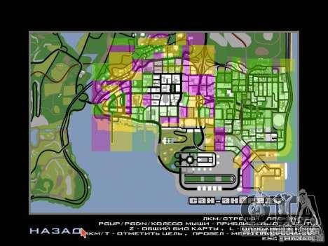 San Fierro and Los Santos Gang Zone for GTA San Andreas third screenshot