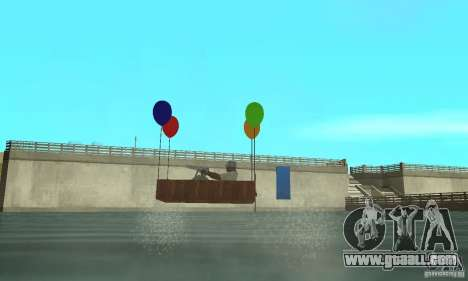 Ballooncraft for GTA San Andreas back left view