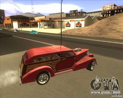 Custom Woody Hot Rod for GTA San Andreas inner view