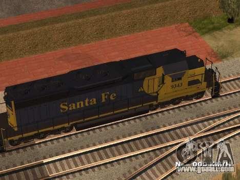 SD 40 UP BN Santa Fe for GTA San Andreas