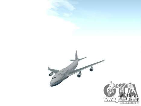 Boeing 747-400 China Airlines for GTA San Andreas back view