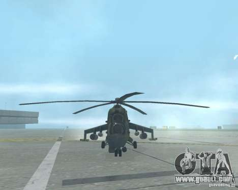 Mi-24p for GTA San Andreas