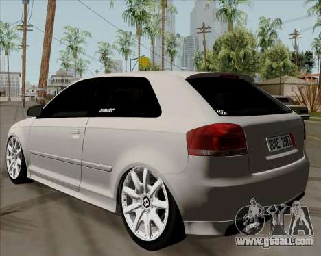 Audi S3 V.I.P for GTA San Andreas left view