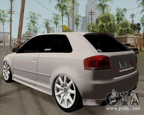 Audi S3 V.I.P for GTA San Andreas left view