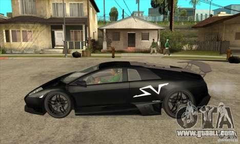 Lamborghini Murcielago LP 670 SV for GTA San Andreas left view