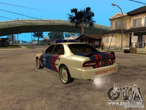 Mitsubishi Galant Police Indanesia for GTA San Andreas left view