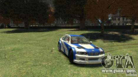 BMW M3 GTR NFS MOST WANTED for GTA 4 left view