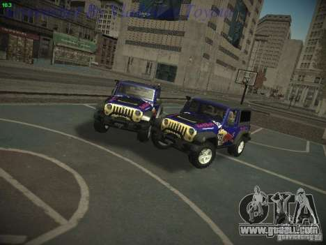 Jeep Wrangler Red Bull 2012 for GTA San Andreas back left view