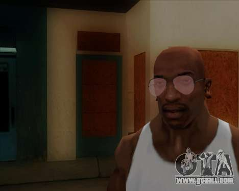 Pink Aviator glasses for GTA San Andreas second screenshot