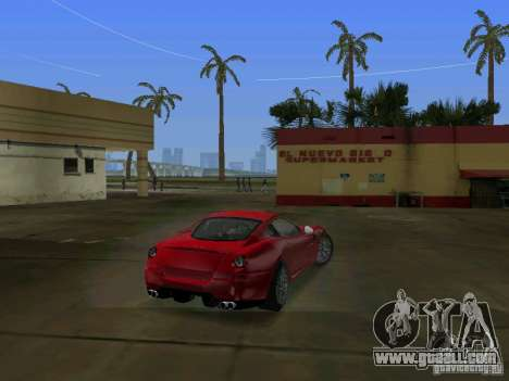 Ferrari 599 GTB for GTA Vice City back left view