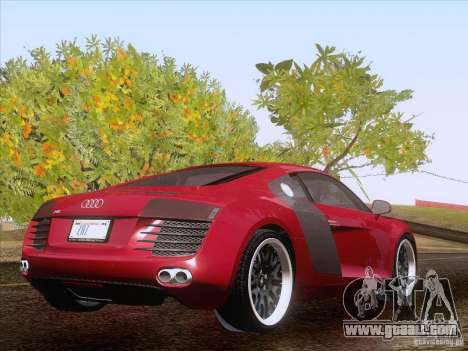 Audi R8 Hamann for GTA San Andreas inner view