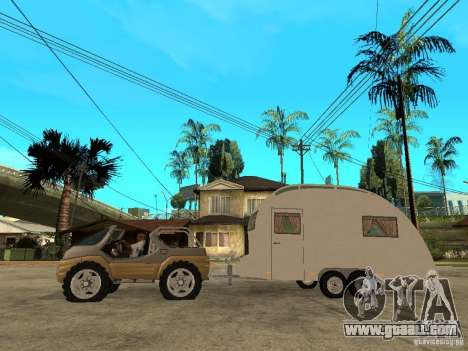Ford Intruder 4x4 Concept + Caravan for GTA San Andreas left view