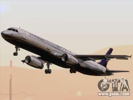 Airbus A321 Air Macau for GTA San Andreas inner view