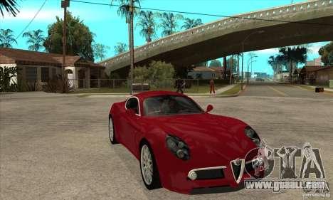 Alfa Romeo 8 c Competizione stock for GTA San Andreas