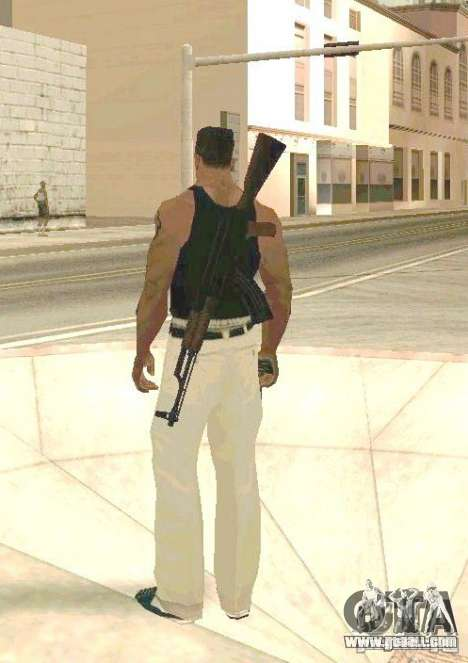 Weapons on body for GTA San Andreas