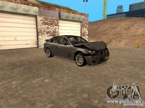 BMW M5 E60 2009 v2 for GTA San Andreas wheels