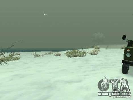 Frozen bone country for GTA San Andreas fifth screenshot