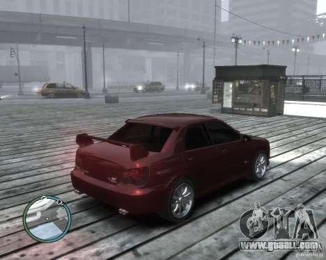 Subaru Impreza WRX STI 2006 for GTA 4 back left view
