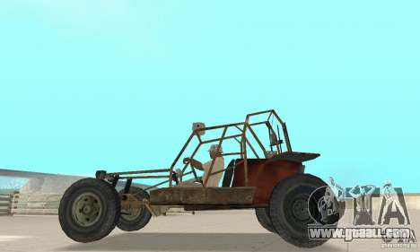 Half-Life Buggy for GTA San Andreas back left view
