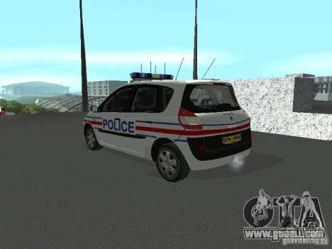 Renault Scenic II Police for GTA San Andreas left view