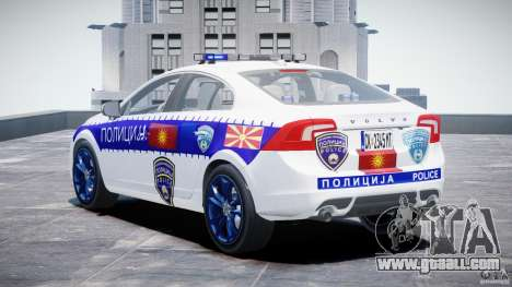 Volvo S60 Macedonian Police [ELS] for GTA 4 back left view