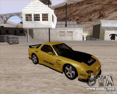 Mazda RX7 2002 FD3S SPIRIT-R (Type RS) for GTA San Andreas inner view