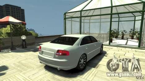 Audi A8 4.2 QUATTRO beta for GTA 4 back left view