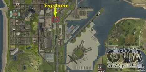 Ukravto Corporation for GTA San Andreas seventh screenshot