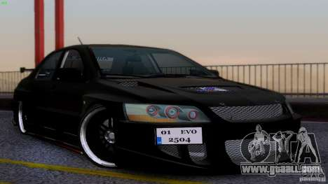 Mitsubishi Lancer Evolution 8 Drift for GTA San Andreas
