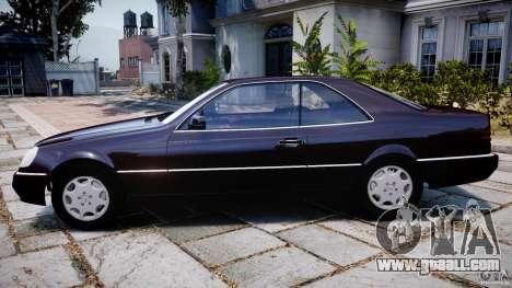 Mercedes-Benz 600SEC C140 1992 v1.0 for GTA 4 left view