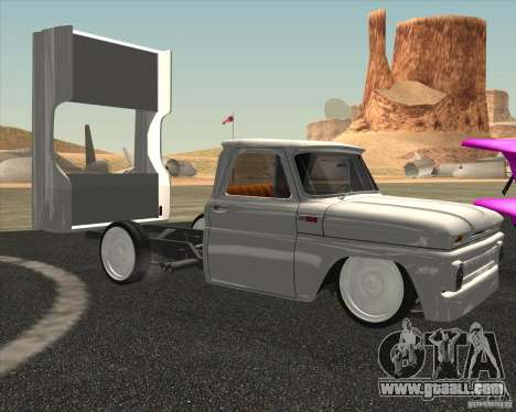Chevrolet C10 1966 Low Gray for GTA San Andreas back left view