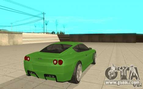 Super GT from GTA 4 for GTA San Andreas back left view