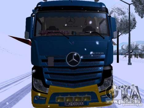 Mercedes Benz Actros MP4 for GTA San Andreas left view