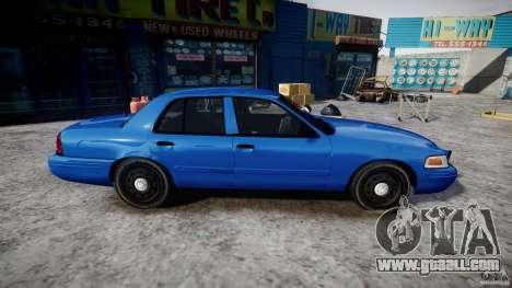 Ford Crown Victoria Detective v4.7 [ELS] for GTA 4 back view