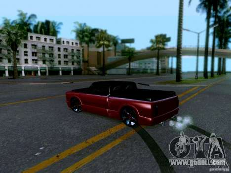 Slamvan Tuned for GTA San Andreas back left view
