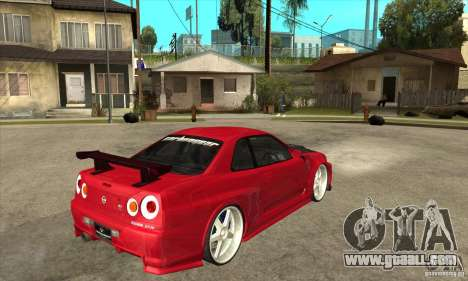 Nissan Skyline GTR-34 Carbon Tune for GTA San Andreas right view