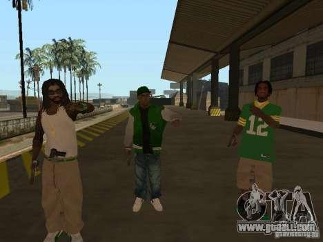 New skins Grove for GTA San Andreas third screenshot