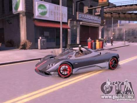 Pagani Zonda Cinque Roadster v 2.0 for GTA 4 right view
