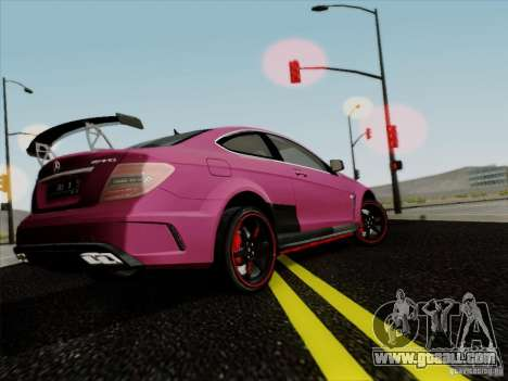 Mercedes Benz C63 AMG Coupe Presiden Indonesia for GTA San Andreas right view