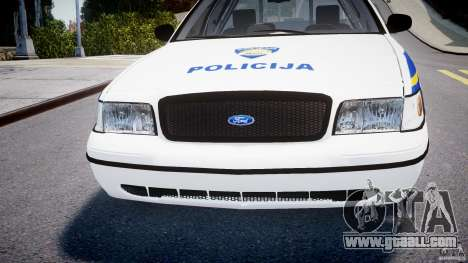 Ford Crown Victoria Croatian Police Unit for GTA 4 upper view