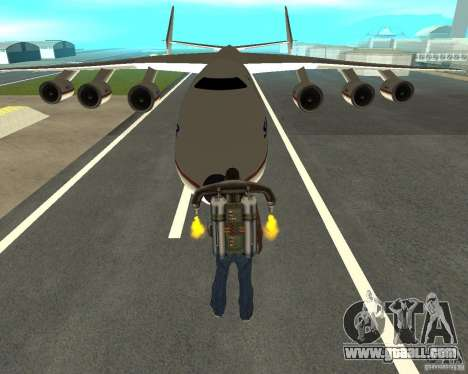 Antonov an-225 Mriya for GTA San Andreas back view