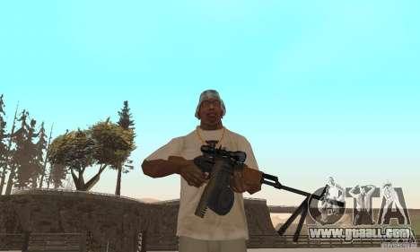 The portable machine gun Kalashnikov for GTA San Andreas
